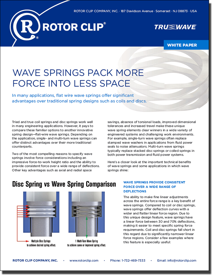 Wave Springs Pack More Force Into Less Space